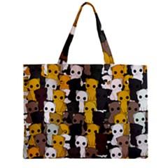 Cute Cats Pattern Zipper Mini Tote Bag