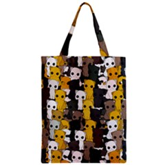 Cute Cats Pattern Zipper Classic Tote Bag