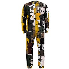 Cute Cats Pattern Onepiece Jumpsuit (men)