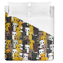 Cute Cats Pattern Duvet Cover (queen Size)