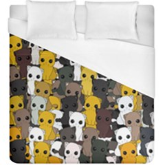 Cute Cats Pattern Duvet Cover (king Size)