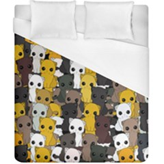 Cute Cats Pattern Duvet Cover (california King Size)