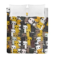 Cute Cats Pattern Duvet Cover Double Side (full/ Double Size)