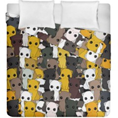 Cute Cats Pattern Duvet Cover Double Side (king Size)