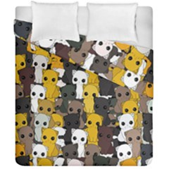 Cute Cats Pattern Duvet Cover Double Side (california King Size)
