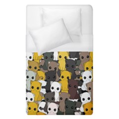 Cute Cats Pattern Duvet Cover (single Size)