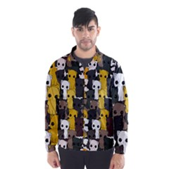 Cute Cats Pattern Wind Breaker (men)