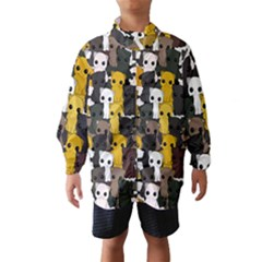 Cute Cats Pattern Wind Breaker (kids)
