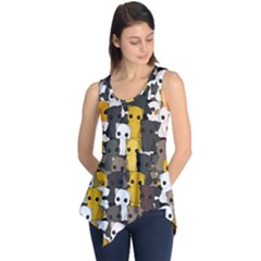 Cute Cats Pattern Sleeveless Tunic