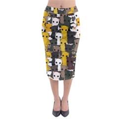 Cute Cats Pattern Midi Pencil Skirt