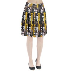 Cute Cats Pattern Pleated Skirt