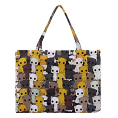 Cute Cats Pattern Medium Tote Bag