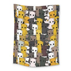 Cute Cats Pattern Medium Tapestry