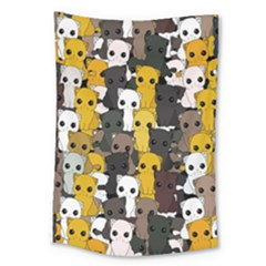 Cute Cats Pattern Large Tapestry