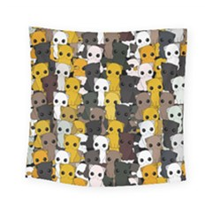 Cute Cats Pattern Square Tapestry (small)