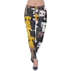 Cute Cats Pattern Velvet Leggings