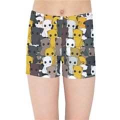 Cute Cats Pattern Kids Sports Shorts
