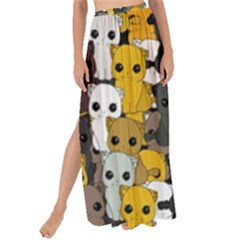 Cute Cats Pattern Maxi Chiffon Tie Up Sarong