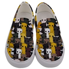 Cute Cats Pattern Men s Canvas Slip Ons