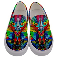 Human Self Awareness   Men s Canvas Slip Ons