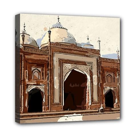 Agra Taj Mahal India Palace Mini Canvas 8  X 8