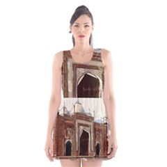 Agra Taj Mahal India Palace Scoop Neck Skater Dress