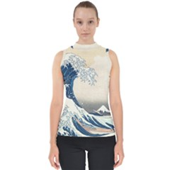 The Classic Japanese Great Wave Off Kanagawa By Hokusai Shell Top