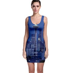 Space Needle Seattle Washington Bodycon Dress