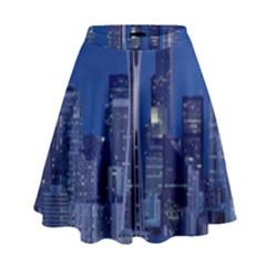 Space Needle Seattle Washington High Waist Skirt