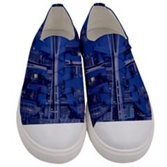 Space Needle Seattle Washington Women s Low Top Canvas Sneakers