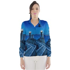 Plouzane France Lighthouse Landmark Wind Breaker (women)