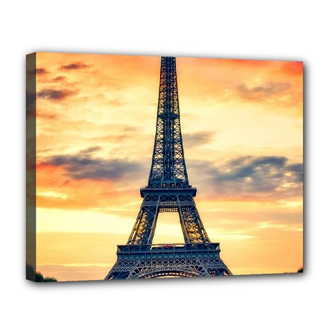 Eiffel Tower Paris France Landmark Canvas 14  X 11