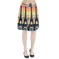 Eiffel Tower Paris France Landmark Pleated Skirt