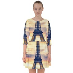 Eiffel Tower Paris France Landmark Smock Dress