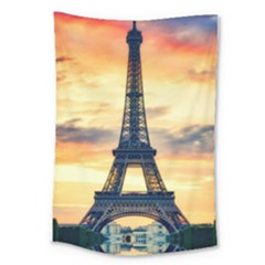 Eiffel Tower Paris France Landmark Large Tapestry