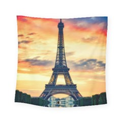Eiffel Tower Paris France Landmark Square Tapestry (small)