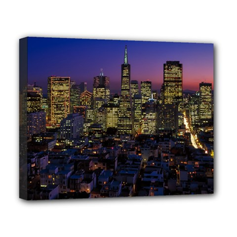 San Francisco California City Urban Deluxe Canvas 20  X 16