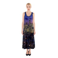 San Francisco California City Urban Sleeveless Maxi Dress