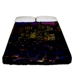 San Francisco California City Urban Fitted Sheet (queen Size)