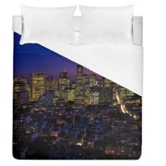 San Francisco California City Urban Duvet Cover (queen Size)