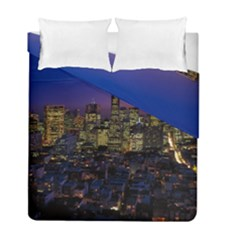 San Francisco California City Urban Duvet Cover Double Side (full/ Double Size)