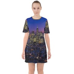 San Francisco California City Urban Sixties Short Sleeve Mini Dress