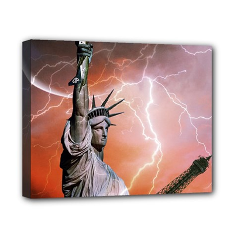 Statue Of Liberty New York Canvas 10  X 8