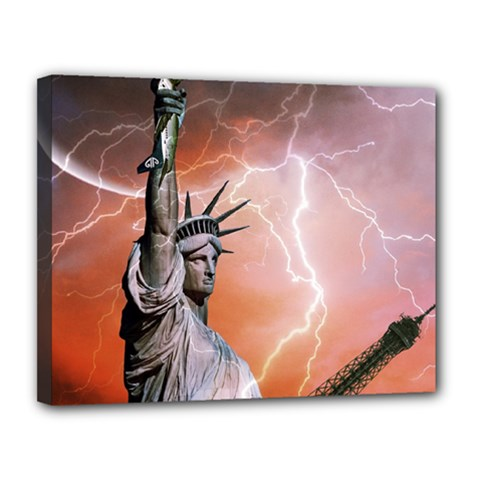 Statue Of Liberty New York Canvas 14  X 11
