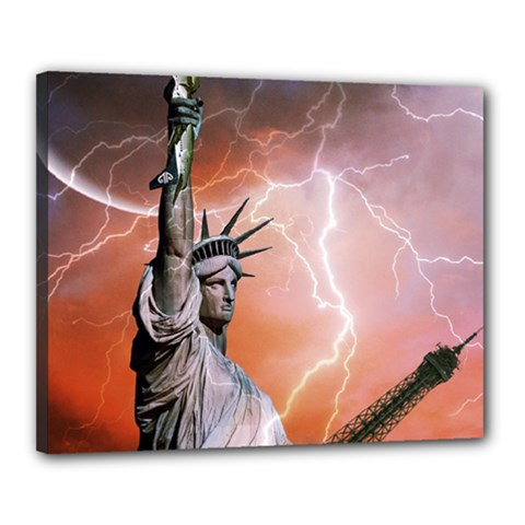 Statue Of Liberty New York Canvas 20  X 16