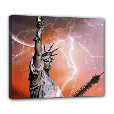 Statue Of Liberty New York Deluxe Canvas 24  X 20