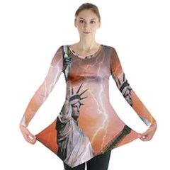 Statue Of Liberty New York Long Sleeve Tunic
