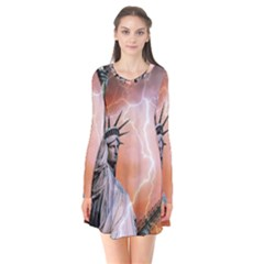 Statue Of Liberty New York Flare Dress