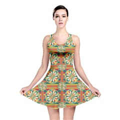 Eye Catching Pattern Reversible Skater Dress