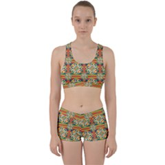 Eye Catching Pattern Work It Out Sports Bra Set